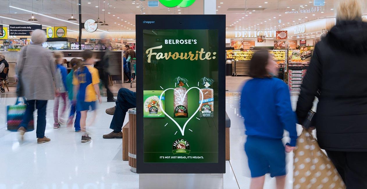 Shopper Helga digital screen