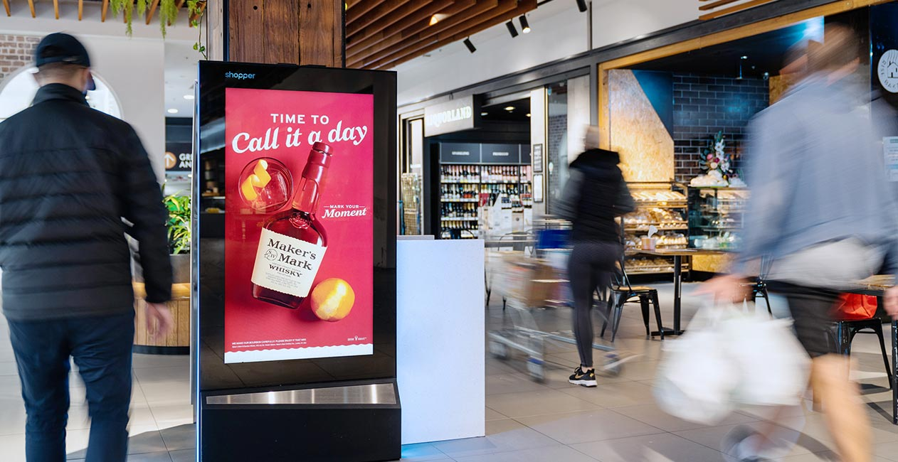 Shopper Maker's Mark digital screen